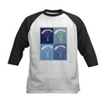 Skydiving (blue boxes) Kids Baseball Jersey