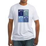 Skydiving (blue boxes) Fitted T-Shirt
