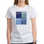 Skydiving (blue boxes) Women's T-Shirt