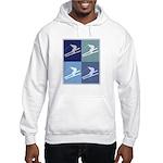 Skiing (blue boxes) Hooded Sweatshirt