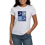 Skiing (blue boxes) Women's T-Shirt