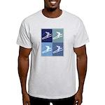 Skiing  (blue boxes) Light T-Shirt