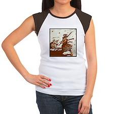 Women's Cap Sleeve T-Shirt Samurai