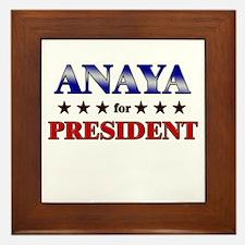 ANAYA for president Framed Tile