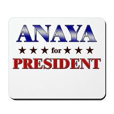 ANAYA for president Mousepad