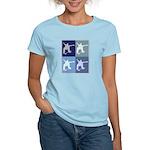 Skateboarding (blue boxes) Women's Light T-Shirt