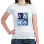 Skateboarding (blue boxes) Jr. Ringer T-Shirt