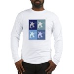 Skateboarding (blue boxes) Long Sleeve T-Shirt