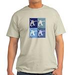Skateboarding (blue boxes) Light T-Shirt