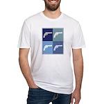 Shoot Guns (blue boxes) Fitted T-Shirt