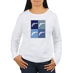 Shoot Guns (blue boxes) Women's Long Sleeve T-Shir