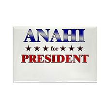 ANAHI for president Rectangle Magnet