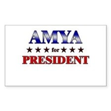 AMYA for president Rectangle Decal