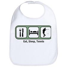 Eat, Sleep, Mens Tennis  Bib