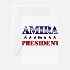 AMIRA for president Greeting Card