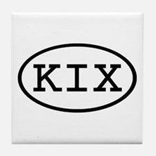 KIX Oval Tile Coaster