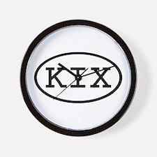 KIX Oval Wall Clock