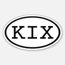 KIX Oval Oval Decal