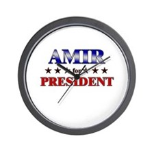 AMIR for president Wall Clock