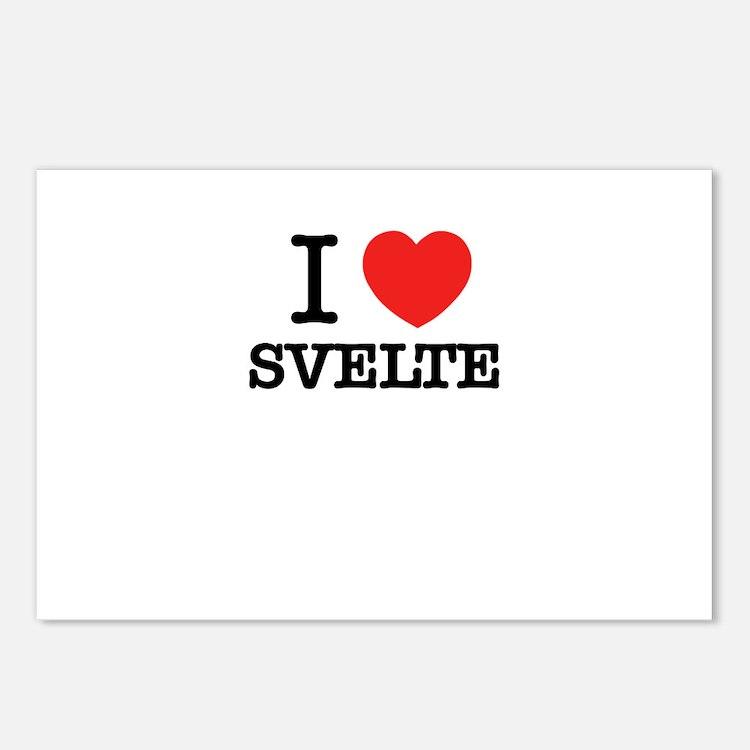 I Love SVELTE Postcards (Package of 8)