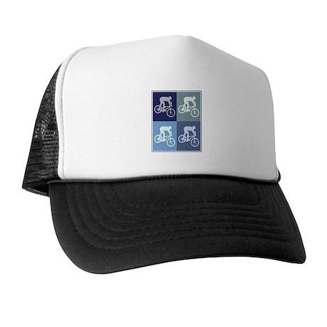 Mountain Biking (blue boxes) Trucker Hat