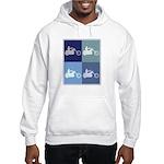 Motocycle Riding (blue boxes) Hooded Sweatshirt