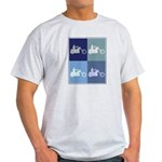 Motocycle Riding (blue boxes) Light T-Shirt