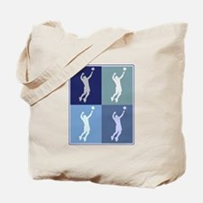 Mens Volleyball (blue boxes) Tote Bag