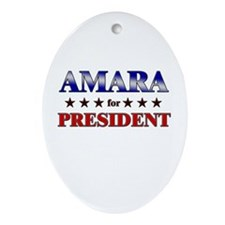 AMARA for president Oval Ornament