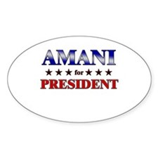 AMANI for president Oval Decal