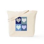 Love (blue boxes) Tote Bag