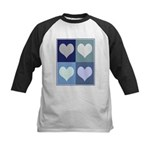 Love (blue boxes) Kids Baseball Jersey