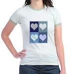 Love (blue boxes) Jr. Ringer T-Shirt