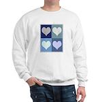 Love (blue boxes) Sweatshirt