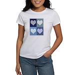 Love (blue boxes) Women's T-Shirt