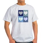 Love (blue boxes) Light T-Shirt