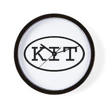 KIT Oval Wall Clock
