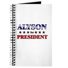 ALYSON for president Journal