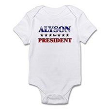 ALYSON for president Infant Bodysuit