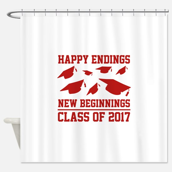 Class Of 2017 Shower Curtain
