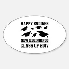 Class Of 2017 Sticker (Oval)