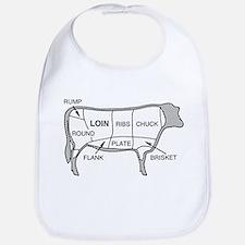 Beef Diagram Baby Bib