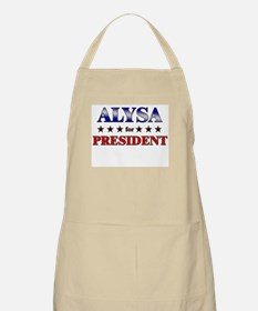ALYSA for president BBQ Apron
