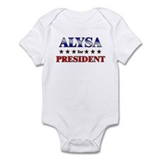 ALYSA for president Onesie