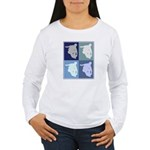 Inline Skating (blue boxes) Women's Long Sleeve T-