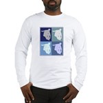 Inline Skating (blue boxes) Long Sleeve T-Shirt