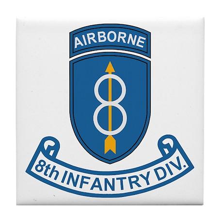 8th Infantry Division<BR> Tile Coaster 3