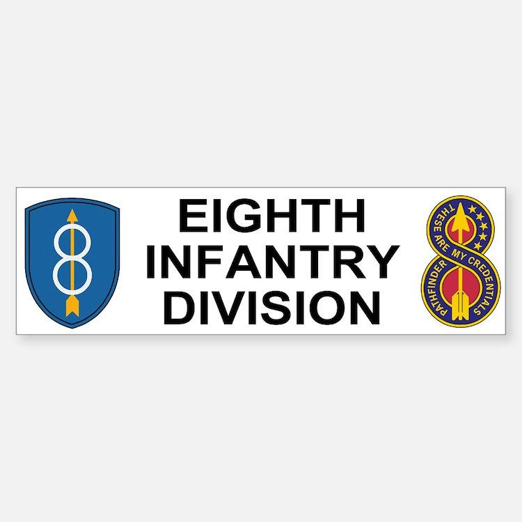 8th Infantry Division<BR> Bumper Sticker 1