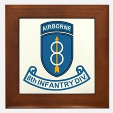 8th Infantry Division<BR> Framed Tile 3