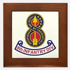 8th Infantry Division<BR> Framed Tile 2